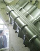 回転式の棟の耐震試験