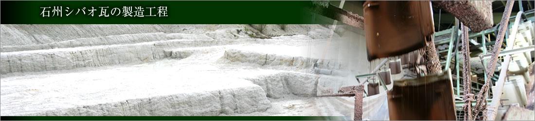 石州シバオ瓦の製造工程