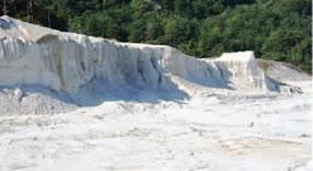 石州水上地方最高級白土(工場敷地内)