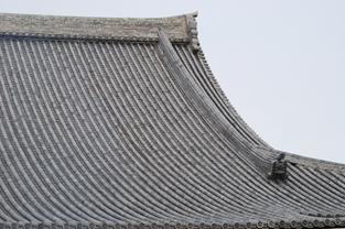 お城や社寺に使われているいぶし瓦