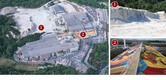 (株)シバオ 工場敷地内の航空写真