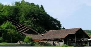 石州水上地方に現存する瓦製造をしていた登り窯