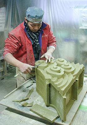 石州シバオの鬼瓦製作を伝承する鬼師たち